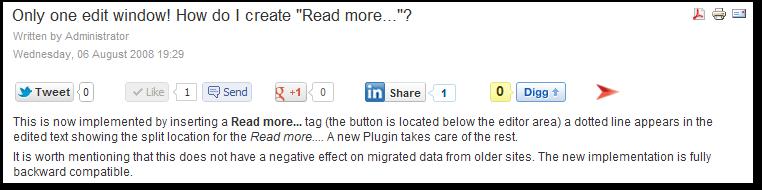 Asynchronous Social Buttons for Joomla