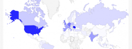 Google Analytics Dashboard Geo Map