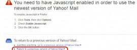 Switch back to Yahoo Mail Classic