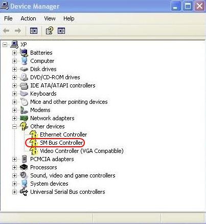 Toshiba Satellite SM Bus Controller