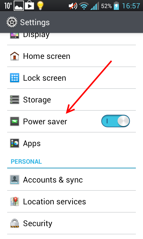 Android Power Saver