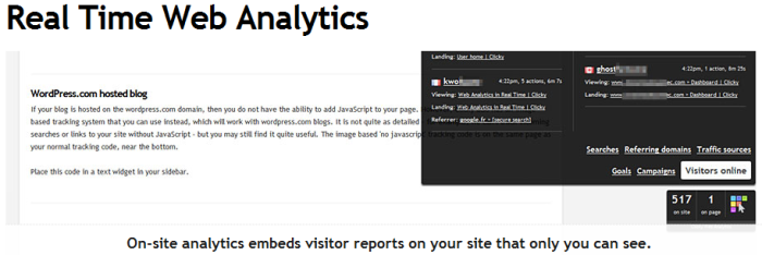 Clicky Analytics On-site