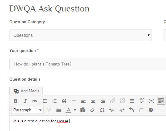 dwqa test question