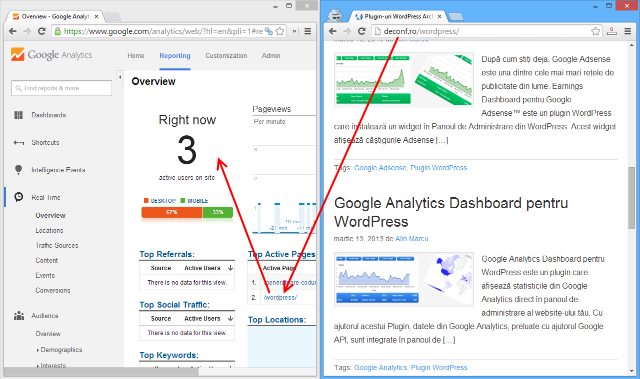 Check if Google Analytics tracking works