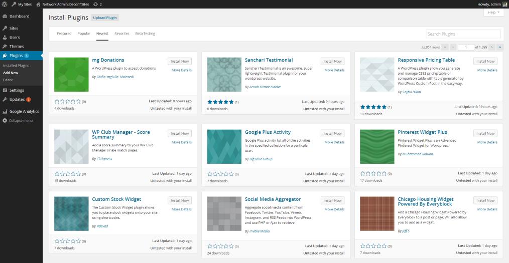 WordPress auto-generated icons