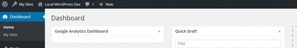 GADWP empty admin widget