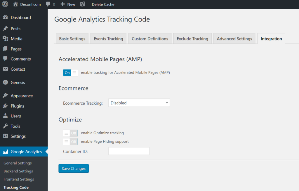 How to add Google Analytics to AMP webpages on WordPress